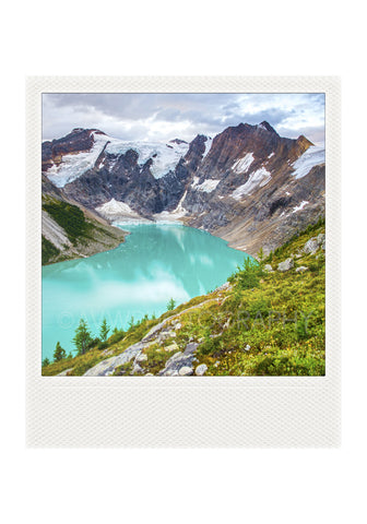 Metallic Polaroid Magnet <br> Alpine Lake // Purcell Mtns B.C