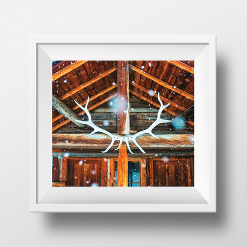 "CLEARANCE  Limited 6x7"" Print <br> Banff Backcountry Lodge<br> Satin Finish"
