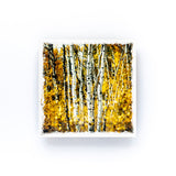 "Autumn Aspens<br>Birch Wood Photo Coaster <br> 4x4"" Matte Finish"