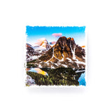 "Mount Assiniboine Provincial Park Canadian Rockies <br>Birch Wood Photo Coaster <br> 4x4"" Matte Finish"