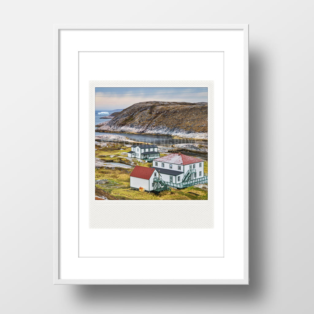SALE<br>Metallic Polaroid Magnet <br>Battle Harbour <br> Labrador Canada