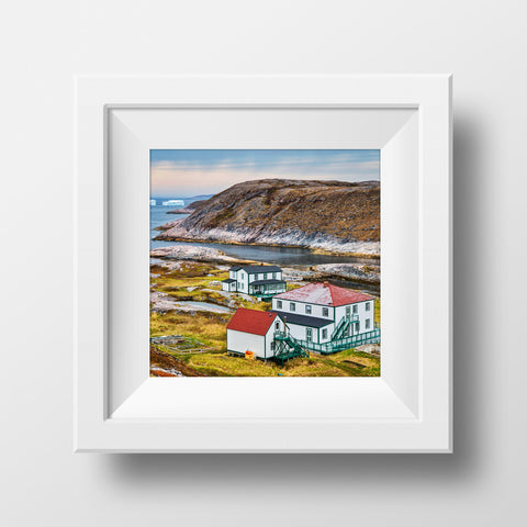 "CLEARANCE 12x12"" Print<br> Newfoundland + Labrador<br>Metallic Finish"