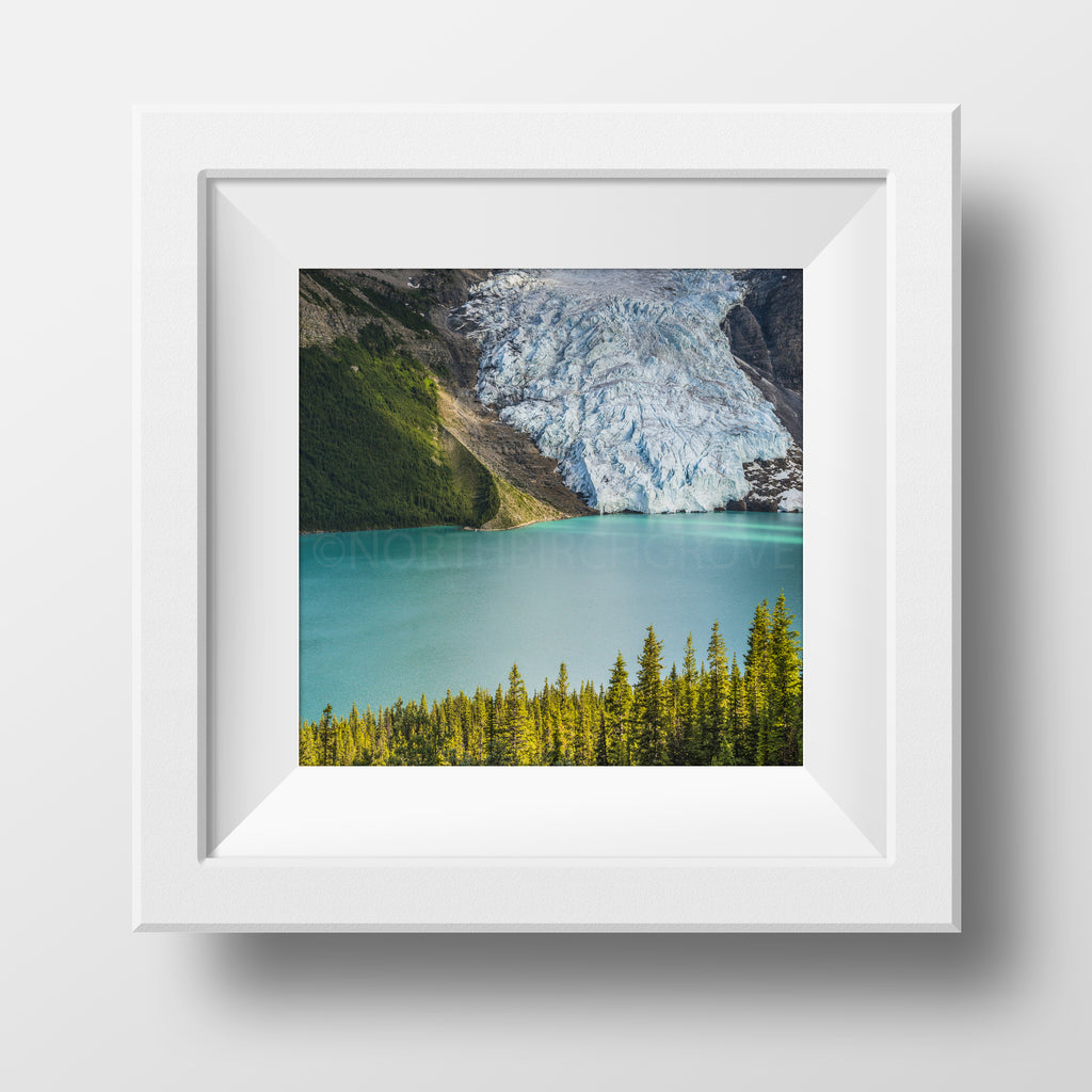 Berg Lake Canadian Rocky Mountains<br>Archival Fine Art Chromogenic Print