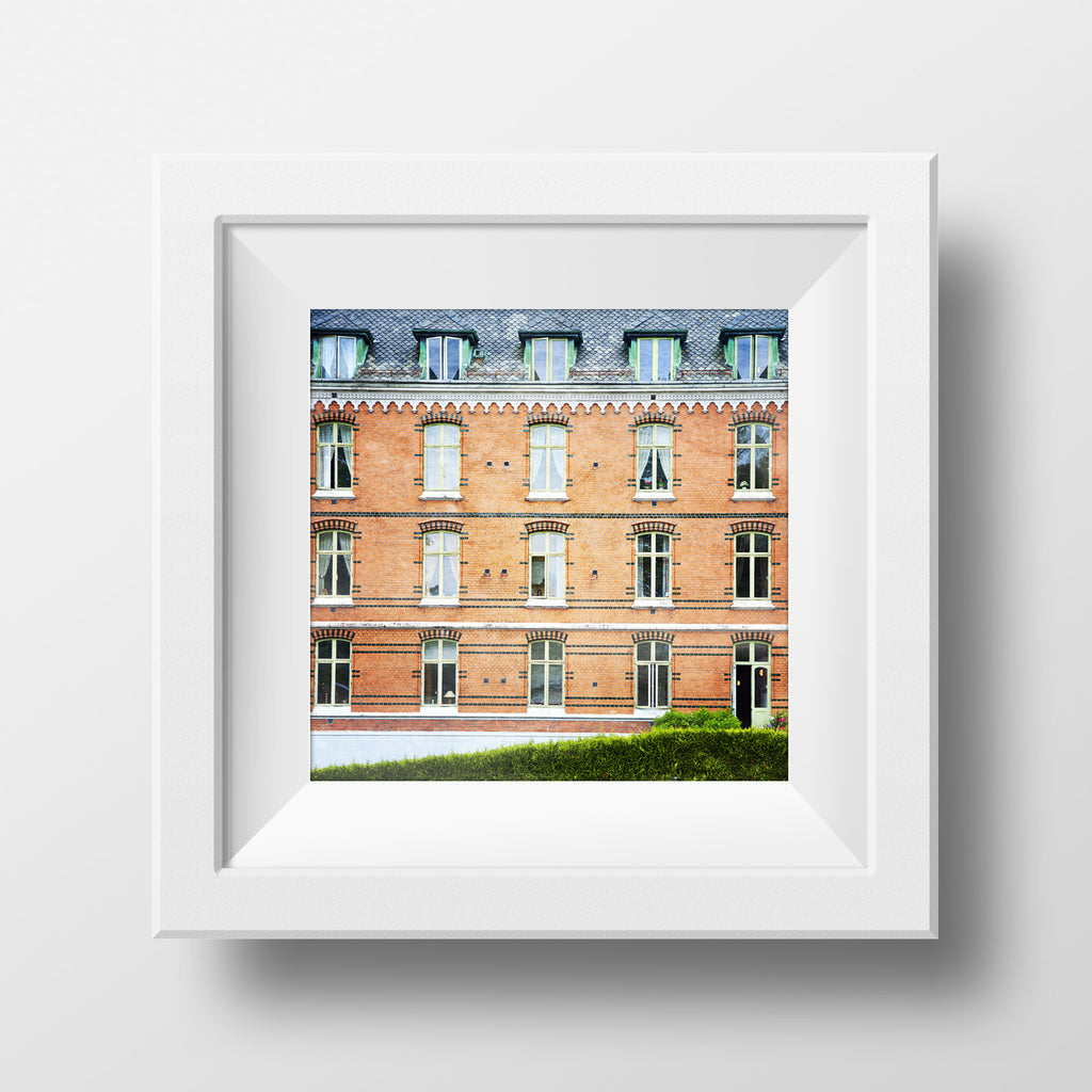 Discontinued Print<br>Brick Pattern Bergen Norway<br>Various Finishes + Sizes