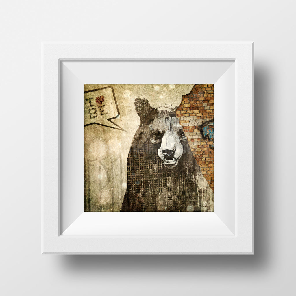Discontinued Print<br>Berlin Bear Street Art<br> Various Finishes + Sizes
