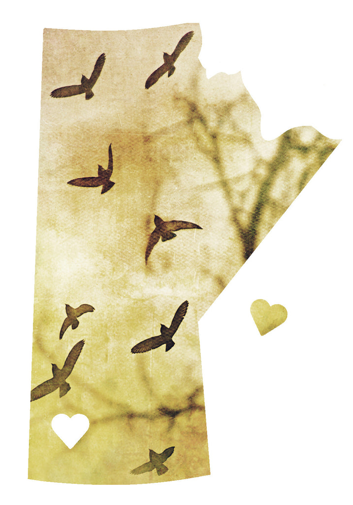 CLEARANCE Manitoba Love Magnet <br> Birds In Flight