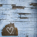 CLEARANCE Print  <br>Heart on Blue Wall<br> Various Finishes + Sizes
