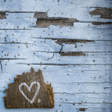 Heart on Blue Wall <br>Archival Fine Art Chromogenic Print