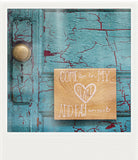 Discontinued<br> Metallic Polaroid Magnet <br> Come Live in My Heart