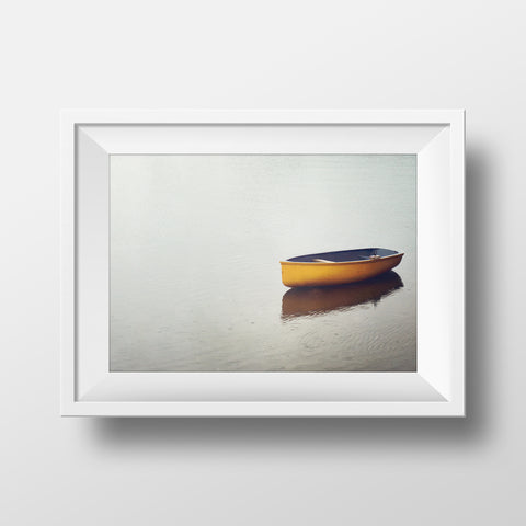 Rowboat in Calm Rain<br>Hofsos Iceland <br>Limited Edition Archival Fine Art Chromogenic Print