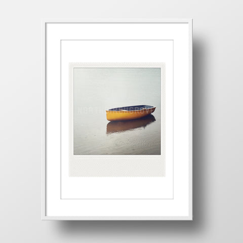 SALE<br>Metallic Polaroid Magnet <br>Lone Rowboat <br>