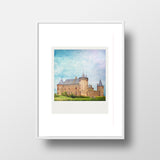 Discontinued Polaroid Magnet <br> Castle in Holland<br> Metallic Finish