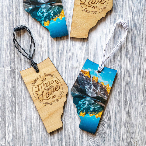 Made to Order Wooden Alberta Holiday Ornaments <br>Deposit Only