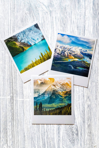 3-Pack of Metallic Polaroid Magnets <br> Canadian Rockies 2