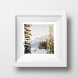"SALE 5x5"" Fine Art Print <br>Canmore Winter Sunrise<br> Metallic Finish"