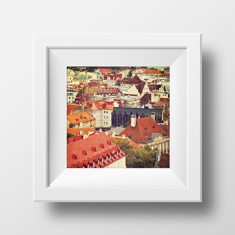 CLEARANCE Print <br>European Rooftops <br>Various Finishes + Sizes