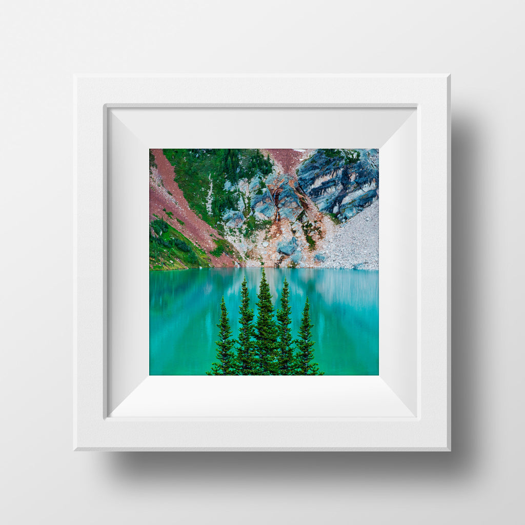 Surreal Blue Lake<br>British Columbia Canada<br>Archival Fine Art Chromogenic Print