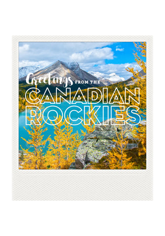 Metallic Polaroid Magnet <br> Greetings from the Canadian Rockies