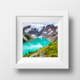 Lake of the Hanging Glacier<br>British Columbia Canada<br>Archival Fine Art Chromogenic Print