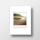 Discontinued <br> Metallic Polaroid Magnet <br>Norway Beach Sunset