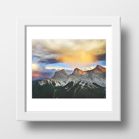 SALE Print <br>Three Sisters Mountains <br>  Canmore Alberta <br> Metallic Finish