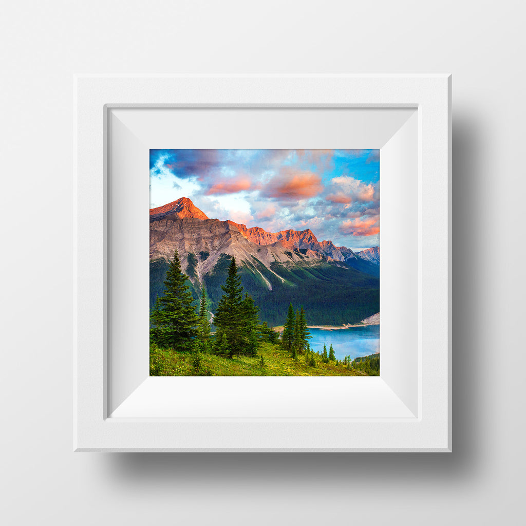 "8x8"" SALE Print<br> Kananaskis Country Sunrises<br> Metallic Finish"