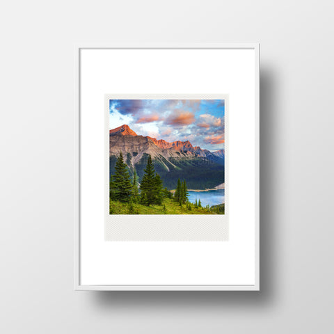 Polaroid Magnet <br> Kananaskis Country Alberta Rockies