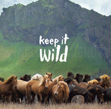 "Discontinued 5x5"" Print <br>Keep it Wild Icelandic Horses <br> Textured Matte Finish"