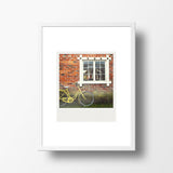 CLEARANCE<br>Metallic Polaroid Magnet <br> Vintage Bicycle in Finland