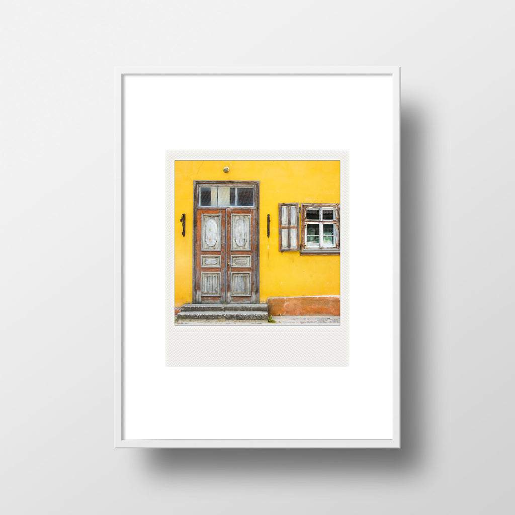 Discontinued <br> Metallic Polaroid Magnet <br>Streets of Latvia