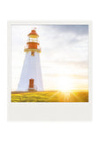 SALE<br> Metallic Polaroid Magnet <br>Point Riche Lighthouse <br> Newfoundland Canada