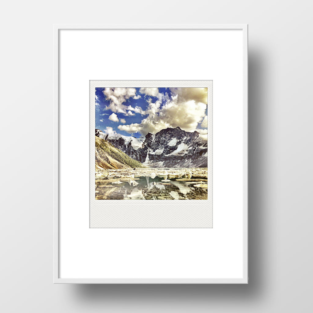 CLEARANCE<br> Metallic Polaroid Magnet <br>Lake of the Hanging Glacier <br> British Columbia
