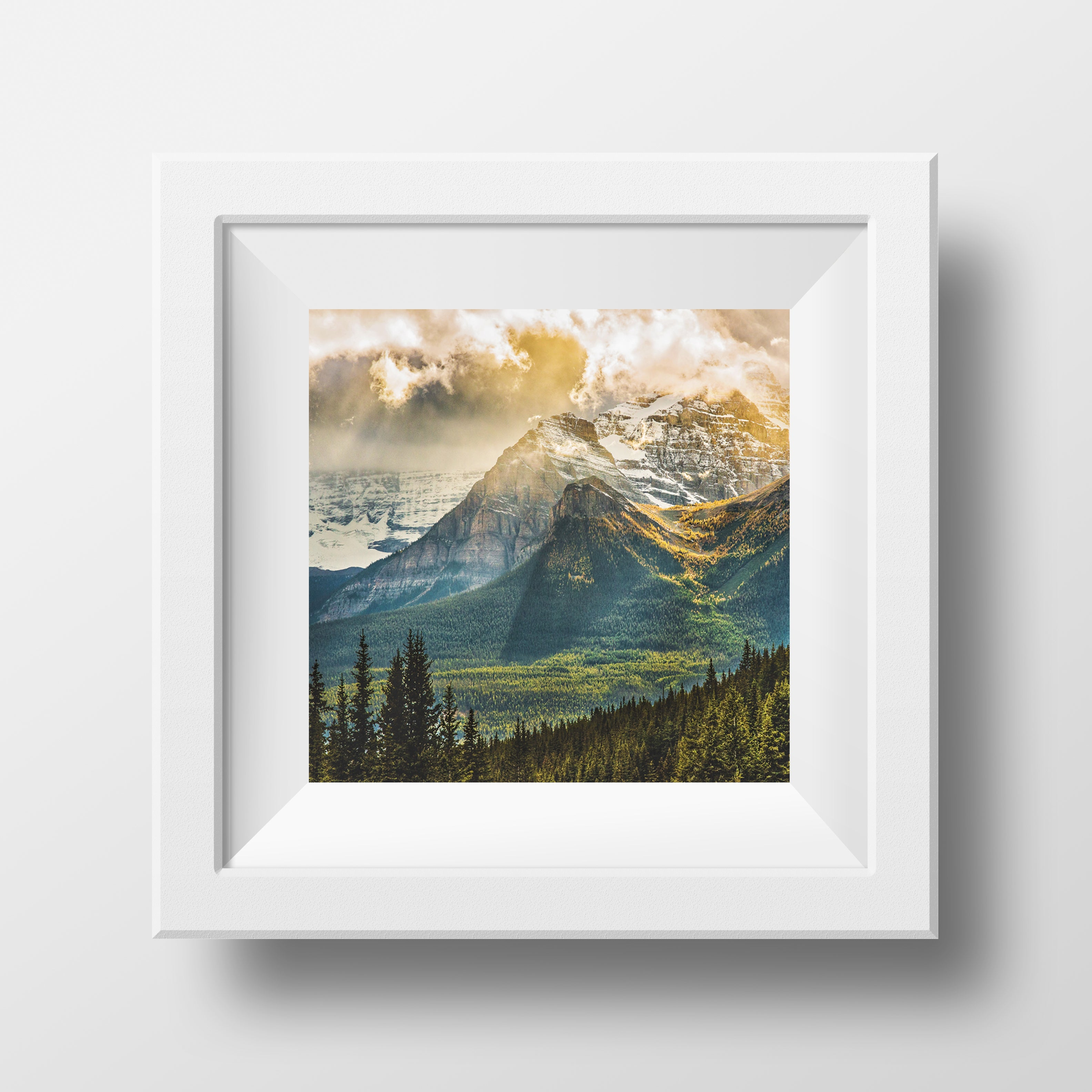 Special Printing Larch Valley 12x12 Matted Canvas Paper Print