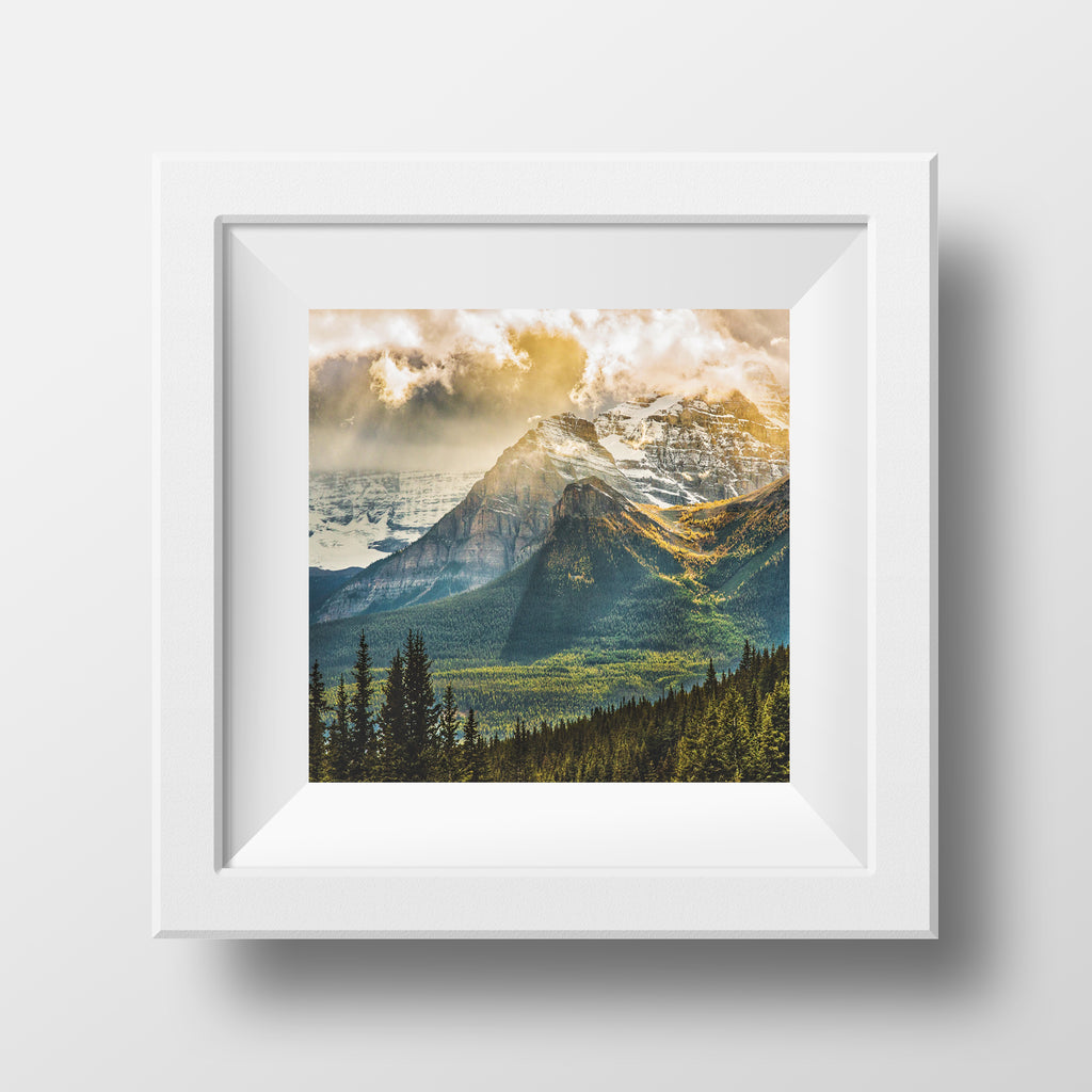"SPECIAL PRINTING <br>Larch Valley <br>12x12"" Matted Canvas Paper Print (Ready To Frame)"