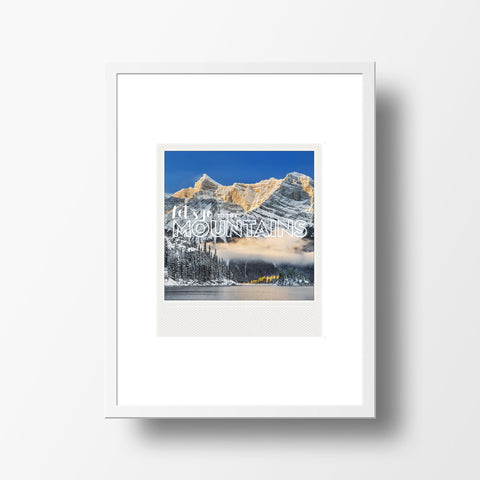 CLEARANCE <br>Metallic Polaroid Magnet <br> Let's Go to the Mountains