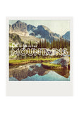 Metallic Polaroid Magnet <br> Let's go to the Mountains!