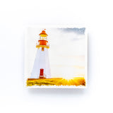 "Lighthouse Newfoundland & Labrador<br>Birch Wood Photo Coaster <br> 4x4"" Matte Finish"