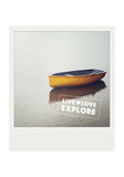 CLEARANCE <br> Metallic Polaroid Magnet <br>Live Love Explore