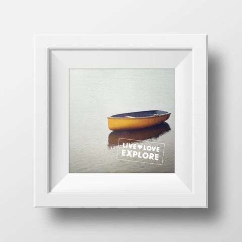 Discontinued Print <br>Live Love Explore<br> Textured Matte Finish