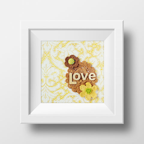 "Discontinued 5x5"" Print <br>Love <br> Matte Finish"