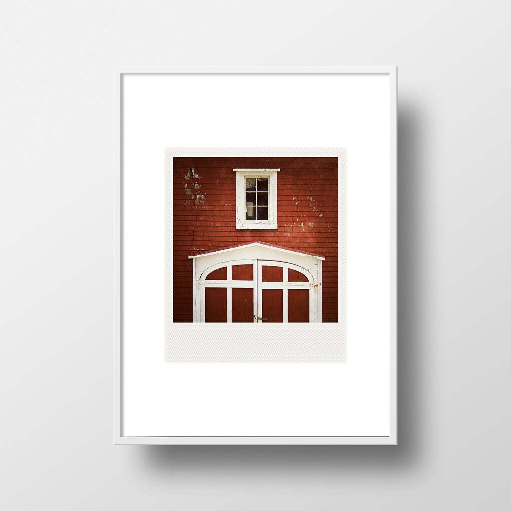 Discontinued <br>Metallic Polaroid Magnet <br> Firehall in Lunenburg NS