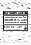 Manitoba Love Magnet <br> Choose from 12 Styles!