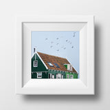 "Discontinued 5x5"" Print <br>Marken Holland<br> Matte Finish"
