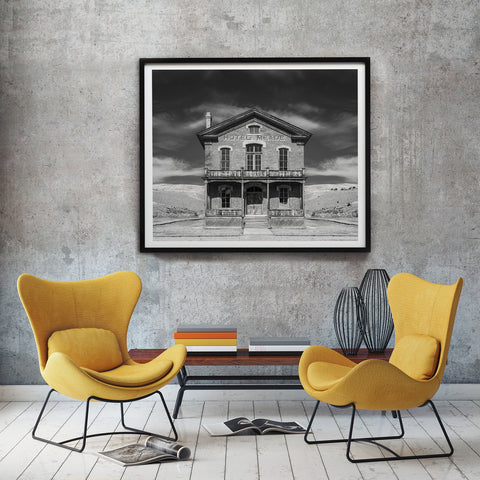 Kuva Collection<br> Historic Hotel Meade <br> Bannack Ghost Town Montana<br>Limited Release Archival B+W Print