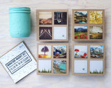 Metallic Mini Magnet Set of 4 <br> Postcard Inspired Mountain Scenes No. 2