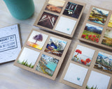 Metallic Mini Magnet Set of 4 <br> Rustic Mountain Moments No. 4