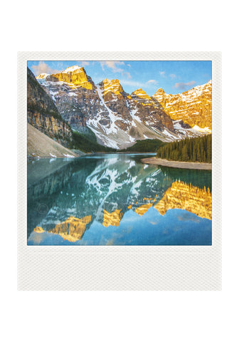 Metallic Polaroid Magnet <br> Moraine Lake // Canadian Rockies