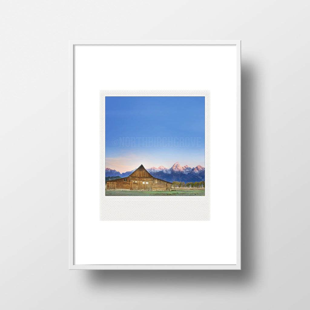 Discontinued<br> Metallic Polaroid Magnet <br>Grand Teton National Park