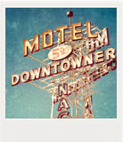 Discontinued <br> Metallic Polaroid Magnet <br>Motel Downtowner
