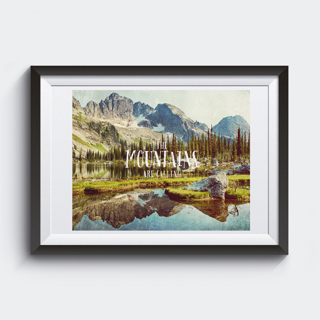 The Mountains Are Calling <br>Valhalla Provincial Park B.C <br> Limited Release Archival Fine Art Chromogenic Print